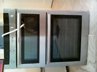 Neff stainless steel electric double oven hardly used