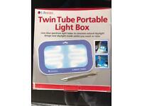 Twin tube portable light box brand new!