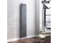 1600x300mm Anthracite Single Flat Panel Vertical Radiator Towel Bathroom Toilet