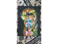 David Bowie oil canvas