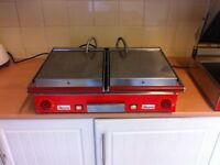 Sirman panini grill rubbed top and bottom