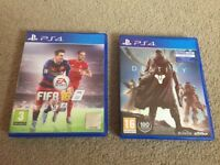 Fifa 16 and Destiny (Playstation 4 Games)