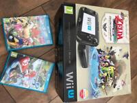 Nintendo Wii U (Limited Edition) and games