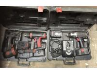 Snap On Impact Gun Drill And Torch Plus Charger And Battery's Complete With Cases