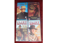 CLINT EASTWOOD ~ FOUR (4) CLASSIC FILMS ON VHS