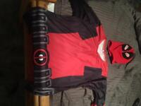 Deadpool mask and top - very cool. Medium / Large