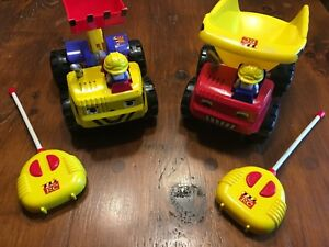 My First RC - Remote Control Dump Truck and Digger Truck