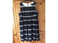 Stunning maternity occasion dress, Rock-a-Bye Rosie, UK 14, Black Primrose
