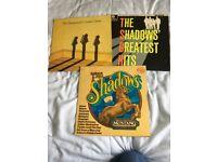 3x The Shadows Vinyl Record Albums