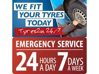Tyres fitted 24hrs a day 7 days a week, Same day fitting available