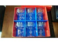 Six Fine Cut Crystal Champagne Glasses (Boxed)