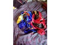 Think silky scarves/bag ties