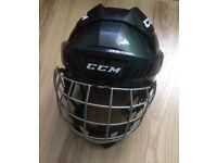 Ice Hockey Helmet CCM FitLite FL40 with Facemask – Black Colour Senior Medium size