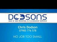 Man and van& clearance best rates