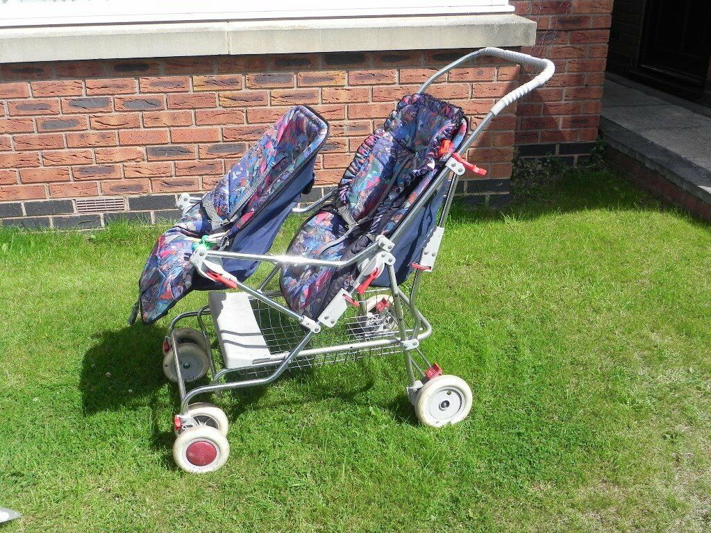 Silver Cross DOUBLE PUSHCHAIR with accessories: separate seats, adaptable