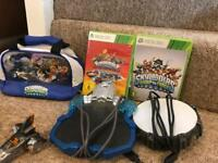 Collection of Skylanders with 2 Games and accessories.
