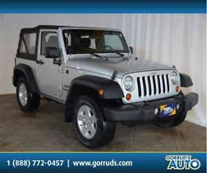 2011 Jeep Wrangler SPORT/4X4/SOFT TOP/TRANSMISSION/AC