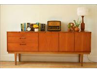 vintage sideboard teak Nathan Furniture mid century danish design