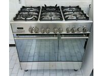 Kenwood CK405 90cm Dual Fuel Range Cooker Stainless Steel - Free Delivery In Southampton Area