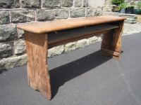 Unusual antique school desk