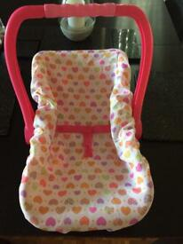Toy baby car seat