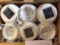 Solar gutter lights. Garden lights