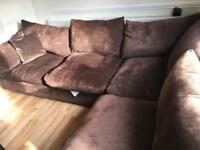 Chocolate corner sofa