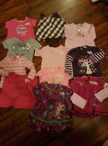 12 month lot Mix of short sleeve, long sleeve shirts.