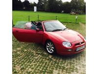 MG F Red Convertible, 1.8, 2dr