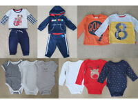Bundle of Boys Baby Clothes 6 to 9 months (12 pieces)