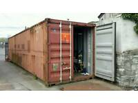 TO LET: SECURE 40,FT Container Storage in SECURE YARD PLUS OUTSIDE SPACE.
