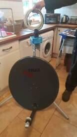 Caravan satellite dish