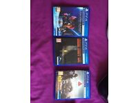 Perfect condition Playstion VR, Camera, Aim controller, 3 games
