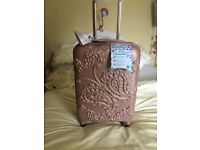 Brand New-Aerolite Butterfly Rose Gold Cabin Size Hard Shell Suite Case-Only £30