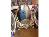 Cream and gold mirror