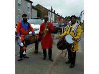 Bhangra Dhol players. Musicians