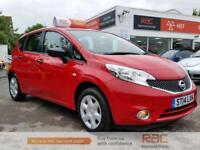 NISSAN NOTE VISIA 2014 Petrol Manual in Red