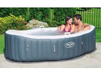 Brand New Lay-Z-Spa Siena Air Jet inflatable 2 Person Hot Tub still in sealed box.
