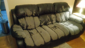 Bonded Leather Couch - - Free