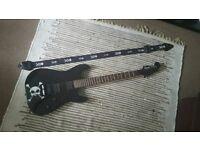 Fender Squire Showmaster Guitar - Skull & Crossbones graphic