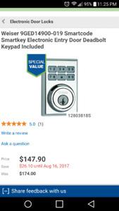 BNIB Weiser Smart Code 5 electronic door lock