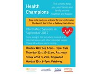 Become a champion of Health this September in Patchway, Kingswood, Yate or Cadbury Heath