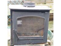 Log Burner. DEFRA approved Earlswood 5kw indoor/outdoor multi fuel burner with 800mm flue