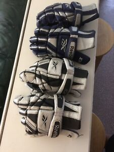 Lacrosse Gloves: Reebok 10k used gloves 2 for $30 or $20 a pair