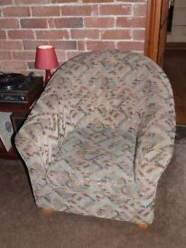 Comfortable and sturdy tub armchair in good condition, from smoke and pet free home