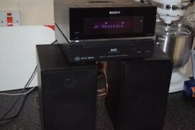 SONY DAB RADIO/CD/IPOD DOCK/AUX IN/DAB ANTENNA CAN BE SEEN WORKING