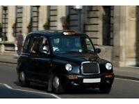 black taxi street cab driver