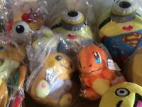 Pikachu Pokemon minions superheroes plush toys new
