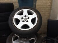 Audi A6 genuine alloys with good tyres