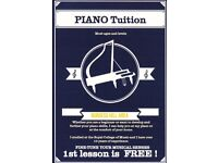 Piano Tuition with qualified/experienced teacher (spaces available) 1st lesson free